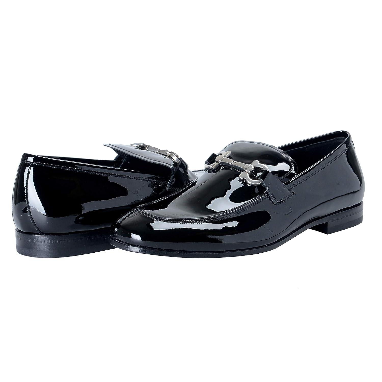 121f5a13236 Amazon.com  Salvatore Ferragamo FUNES Men s Black Patent Leather Loafers  Shoes Sz US 10.5EEE IT 43.5EEE  Shoes