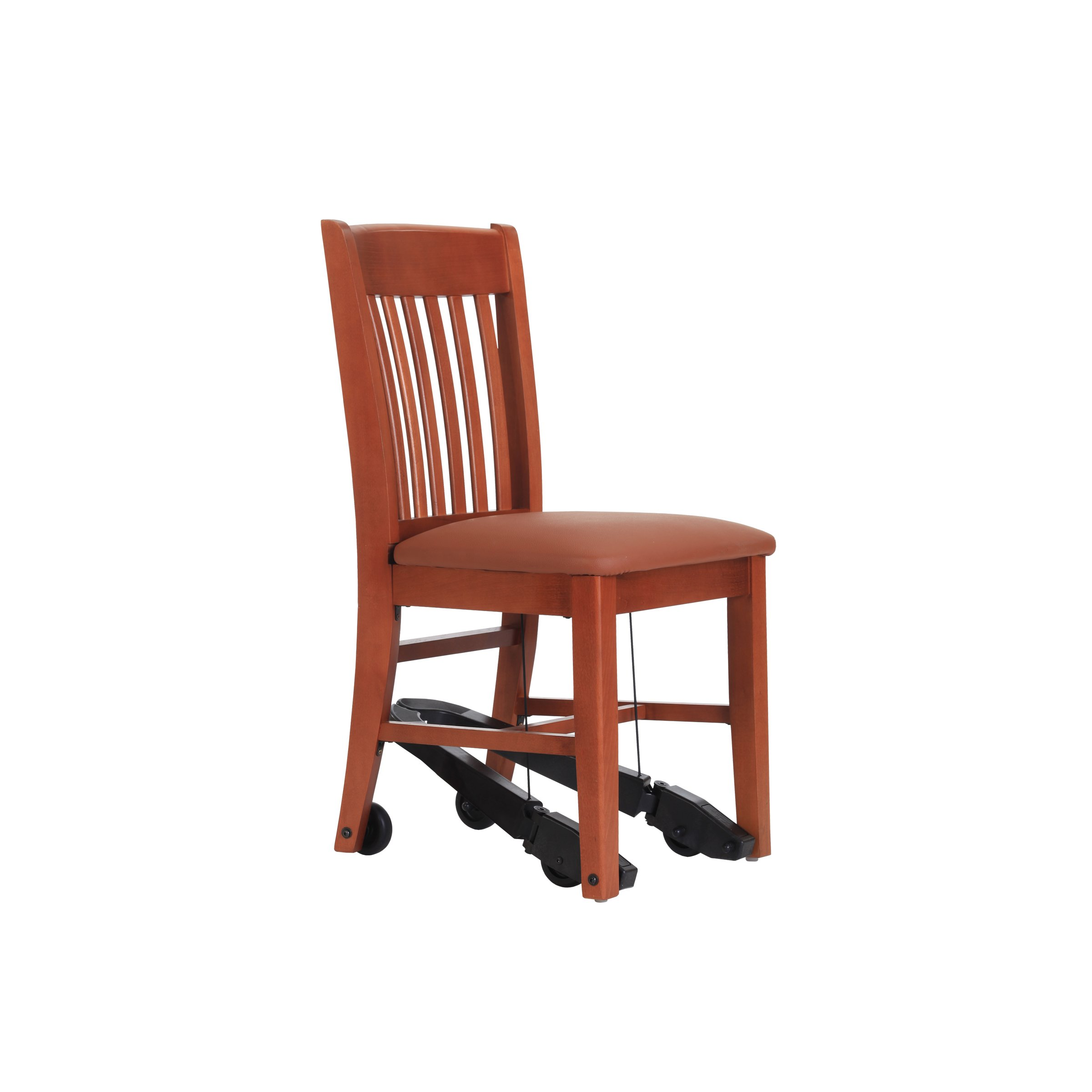 Living Made EZ LMZ-60-5368 Dining Chair with Mobility Assist Lever, Wood Frame, Saddle, 18 Inch Width by Living Made EZ