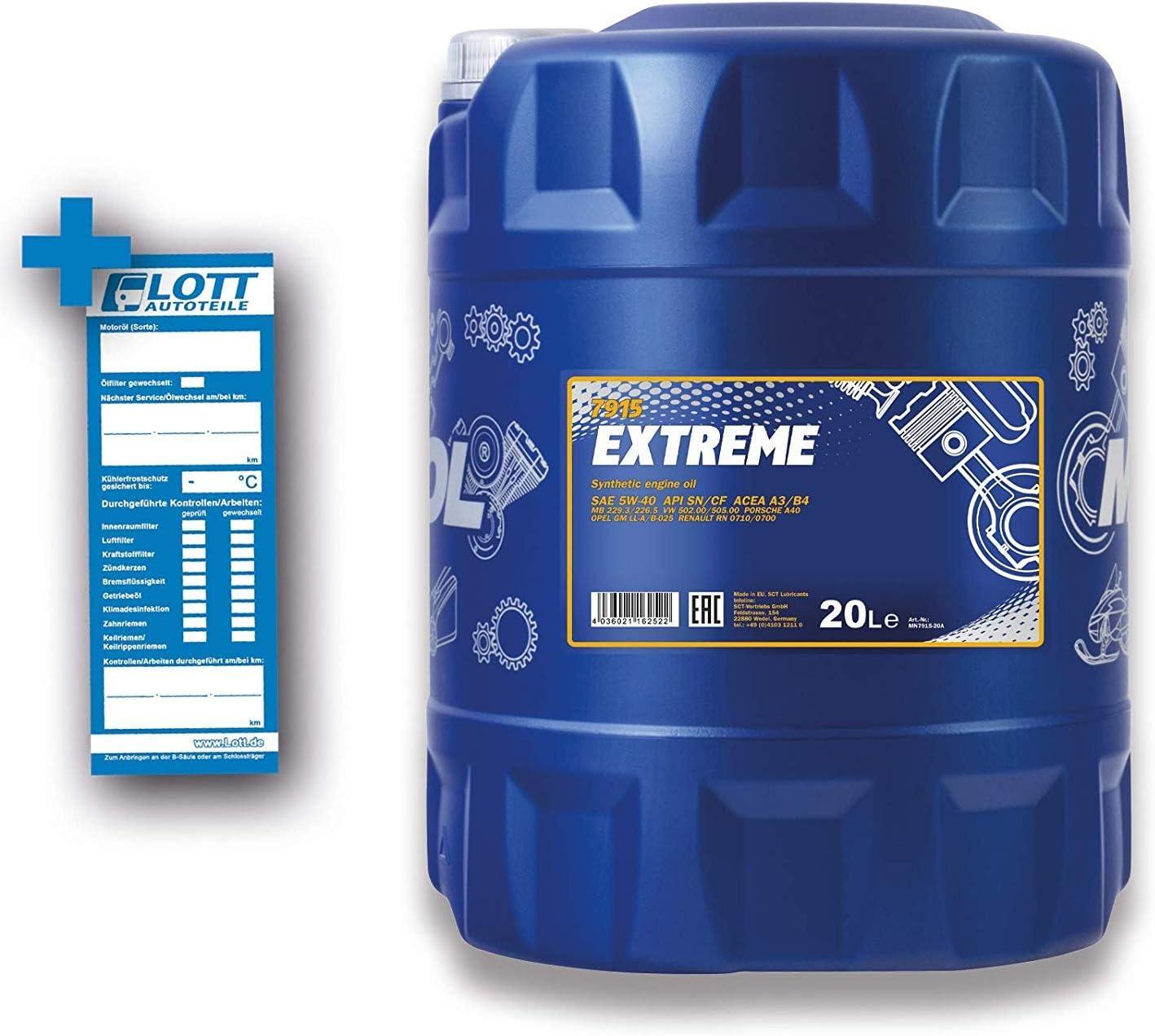 Mannol Extreme 5w 40 Api Sn Cf Engine Oil 1 Litre Auto