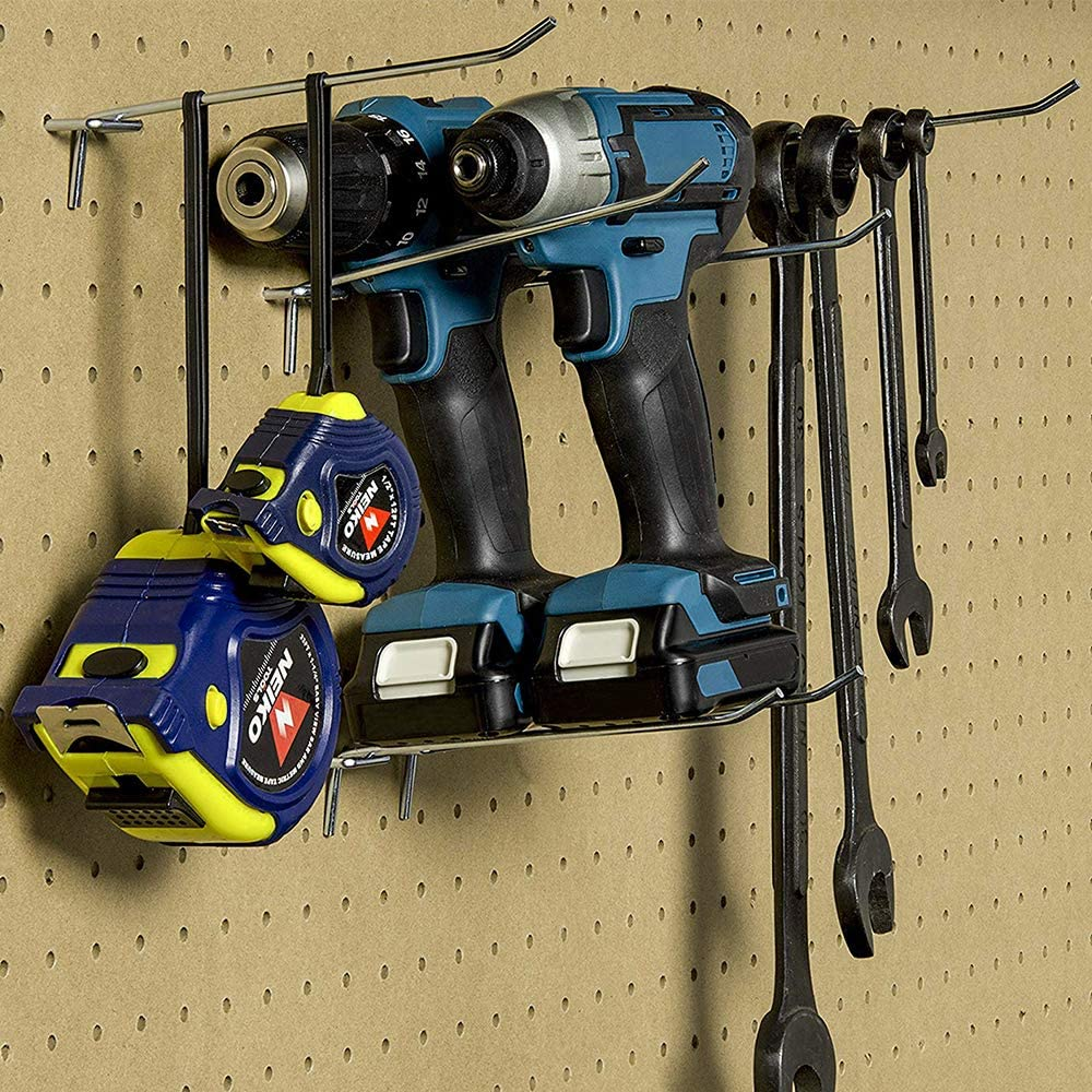 Pegboard Hooks YILEGOU Metal Board Shelving Hooks for 1//4,1//8 inch pegboards 15 Pack