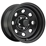 Trailmaster TM9-5865F TM9 Steel Wheel; Size 15X8 ;Bolt Pattern: 5x4.5 ;Back Space 3.75 in.; Finish Flat Black;