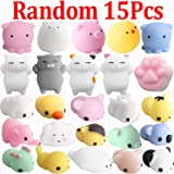 Mini Squishies Kawaii, Outee 15 Pcs Mochi Squeeze Toys Soft Squishy Release Stress Animal Toys Kawaii Animal Squishies, Random Color