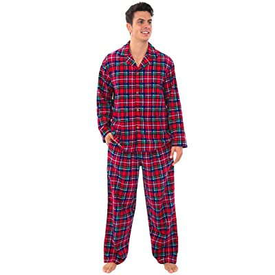 Alexander Del Rossa His and Hers Lightweight Flannel Pajamas, Long Button Down Cotton Pj Set at Women's Clothing store
