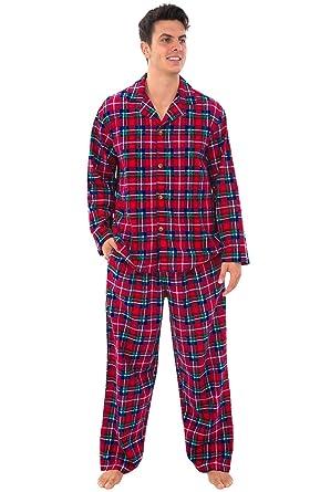 d43b9228f4 Alexander Del Rossa Mens Plaid Flannel Pajamas