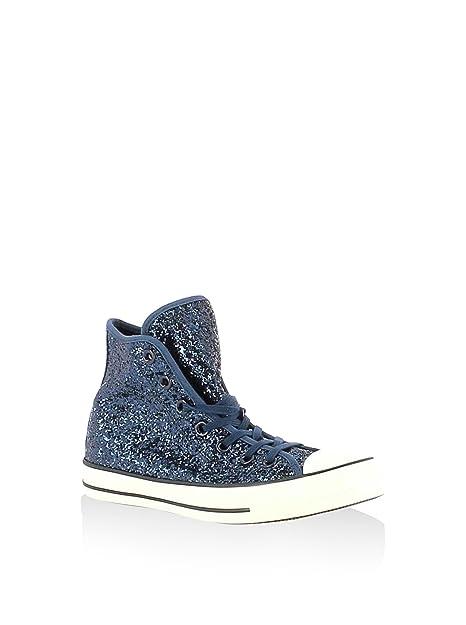 Converse All Star Hi Tex Glitter - Zapatillas Abotinadas Mujer: Amazon.es: Zapatos y complementos