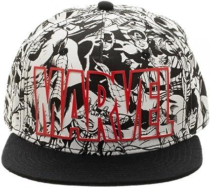 BRAND NEW OFFICIAL MARVEL COMICS DEADPOOL SYMBOL BLACK /& WHITE SNAPBACK CAP