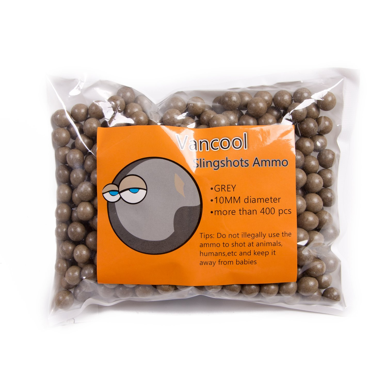 Vancool Professional Slingshot Ammo 3/8'' (10mm) Biodegradable hard clay ball 400pcs per pack
