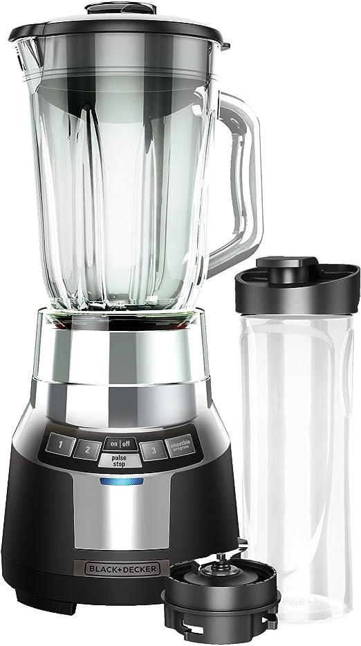 Applica FusionBlade Batidora de vaso 1.4L 700W Negro, Plata - Licuadora (1,4 L, Batidora de vaso, Negro, Plata, Vidrio, 700 W): Amazon.es: Hogar