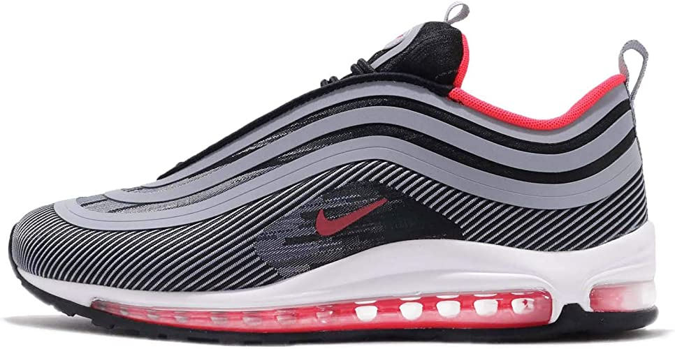 Amazon Com Nike Men S Air Max 97 Ul 17 Black Red Orbit Wolf