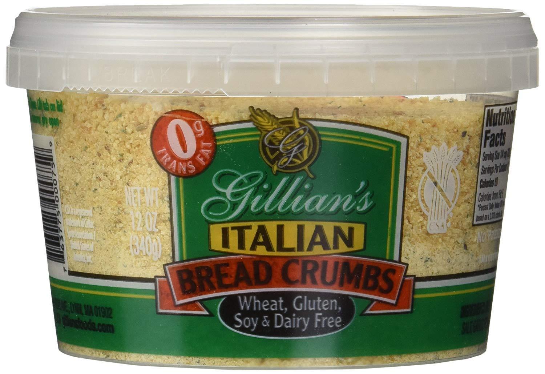Gillian's Foods Gluten Free Italian Bread Crumbs - 12 oz (3 Pack) by Gillian's Foods