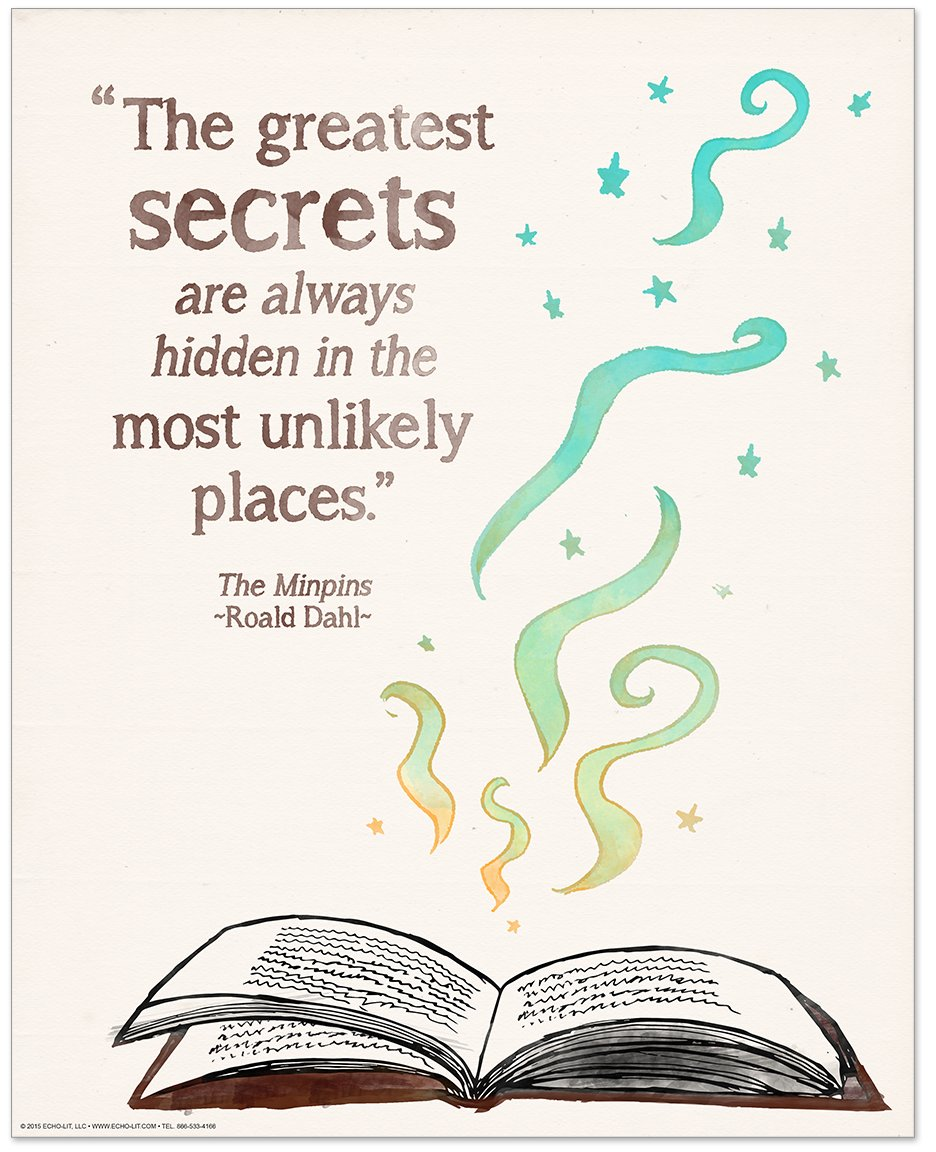 ECHO-LIT Children`s Literature Inspirational Quote Nine Poster Set for Home, Classroom or Library by ECHO-LIT (Image #5)