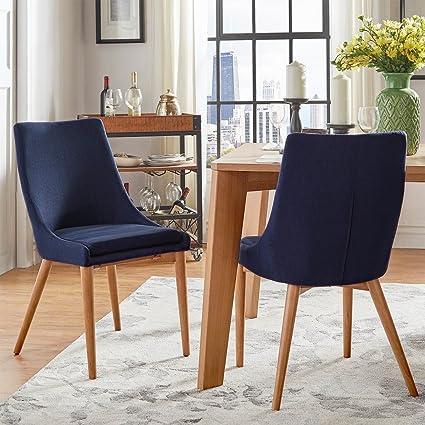 amazon com sasha oak barrel back side dining chair set of 2 rh amazon com Barrel-Shaped Dining Chair Periwinkle Blue Dining Chairs