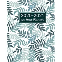 2020-2021 Two Year Planner: Floral Leaf Cover | 2 Year Monthly Calendar 2020-2021 Monthly | 24 Months Agenda Planner…