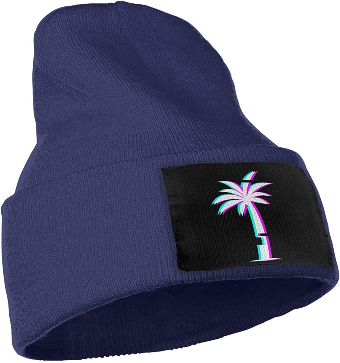 Peng Peng Glitch Aesthetic Vaporwave Palm Tree Beanie Cap Skull Cap Men Women Winter Warm Knitting Hats