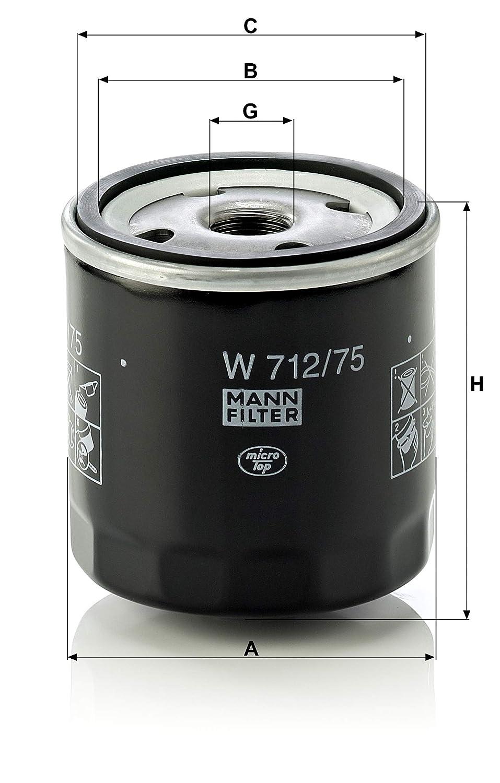 MANN-FILTER W 712/75 Original Filtro de Aceite, para automóviles