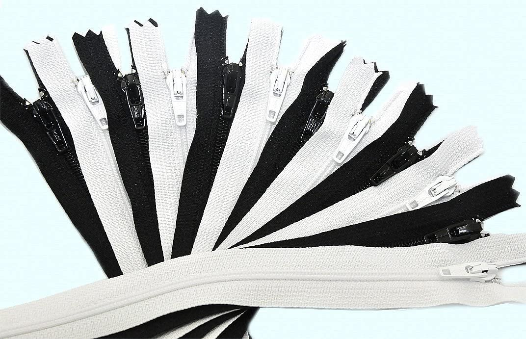 12 Zippers // Pack 14\ Zipper YKK #3 Skirt /& Dress ~ YKK Color 501 White