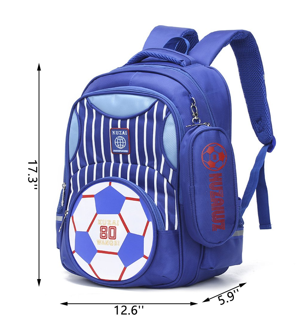 Amazon.com   Mysticbags Boys Backpack Soccer Printed Kids School Bookbag  for Primary Students Blue   Kids  Backpacks 6d0880f77f