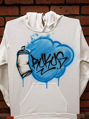 f6b10ba2e Amazon.com: Personalized Airbrush T shirt, Sweatshirt, or Hoodie - Graffiti  Spray Can Design: Handmade