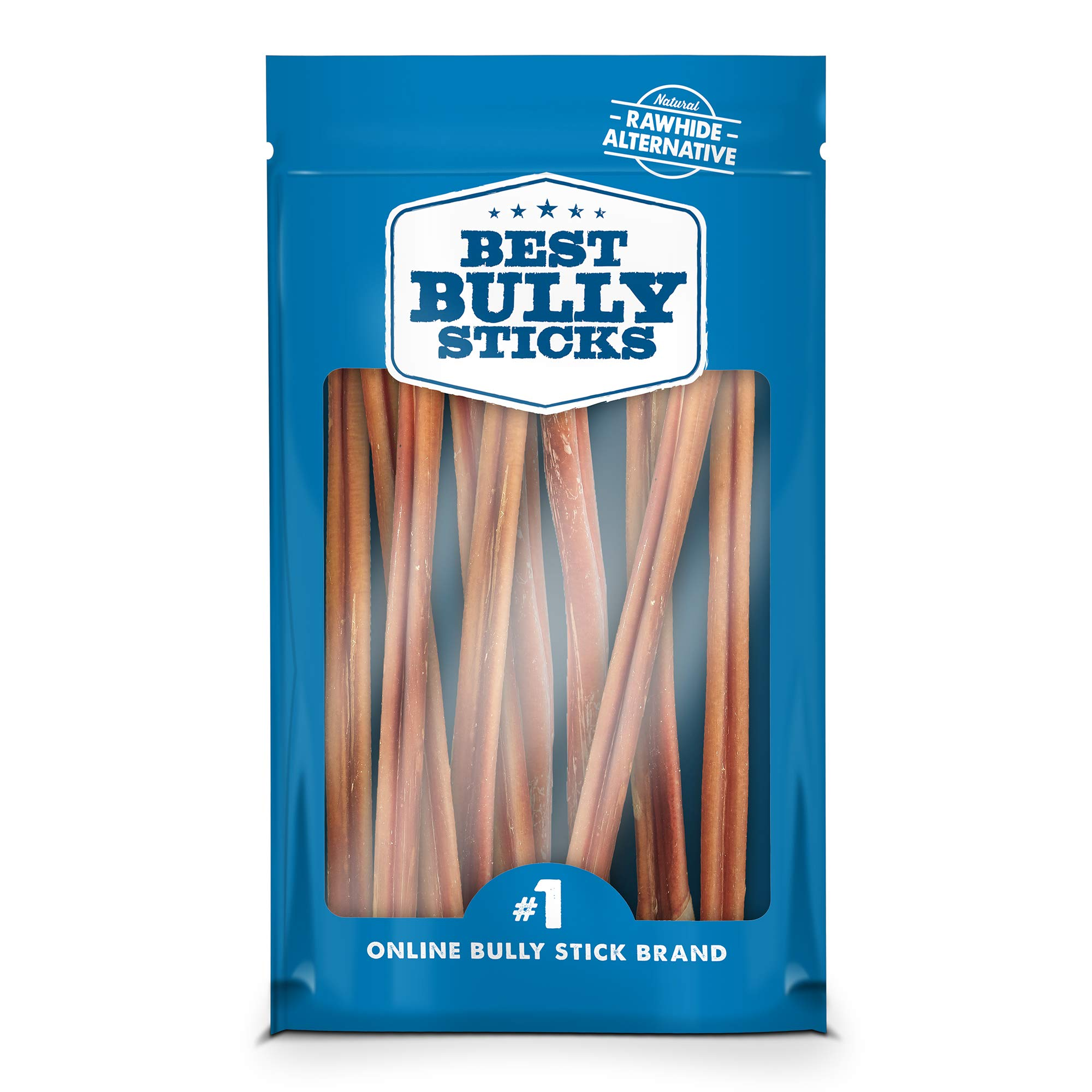 Best Bully Sticks USA 12-inch Bully Sticks Dog Chews (10 Pack) - Made in USA, All-Natural, Grass-Fed, Free-Range, Single-Ingredient, 100% Beef