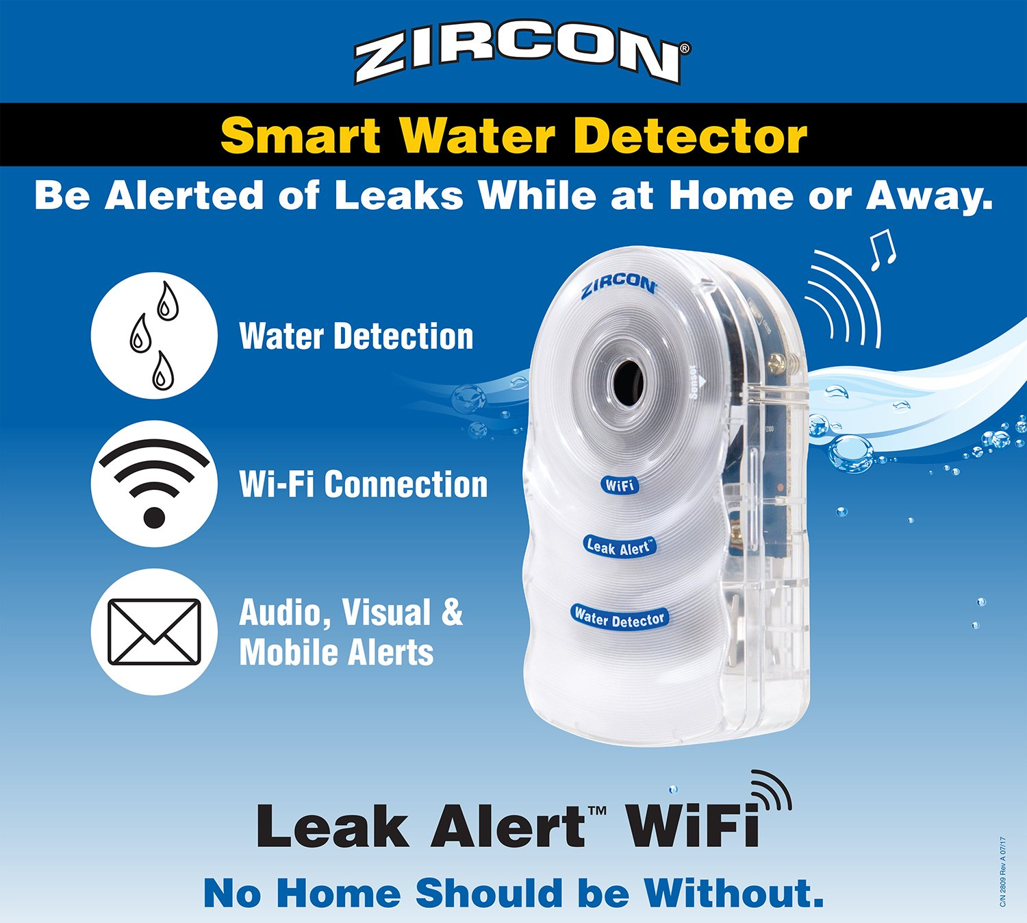 Zircon Leak Alert WiFi- 2 Pack - Smart Electronic Water Detector Alarm with Email, Audio and Visual Alerts - Battery Included by Zircon (Image #6)