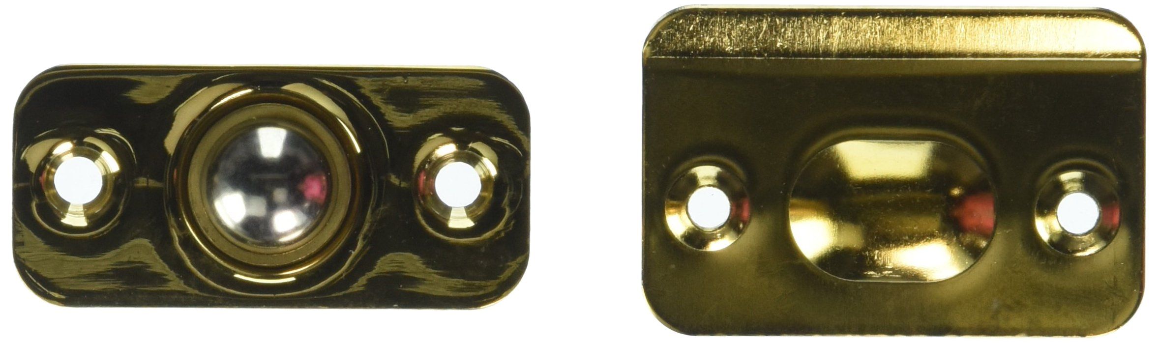 Deltana BC218RCR003 Round Corners Adjustable Up to 3/8-Inch Solid Brass Ball Catch