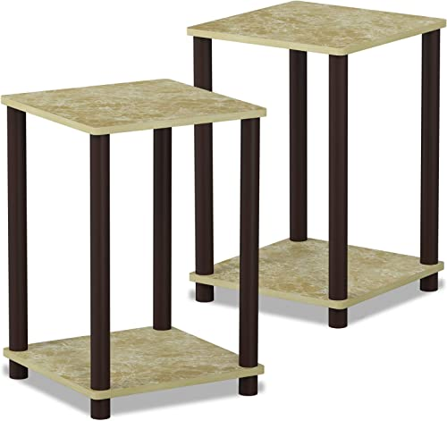 FURINNO Turn-N-Tube Haydn 2-Pack End Table