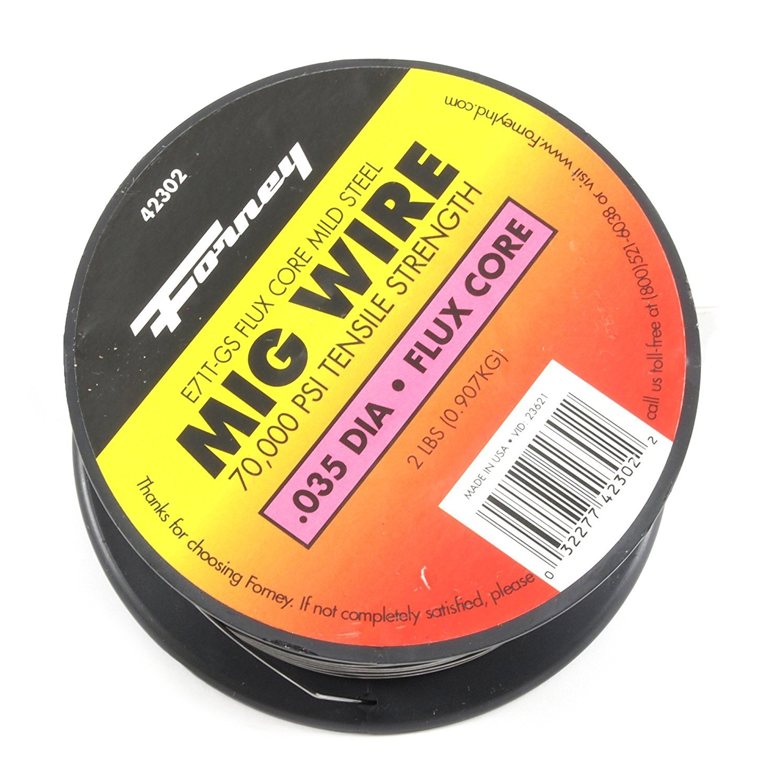 Forney 42302 Flux Core Mig Wire, Mild Steel E71TGS.035-Diameter, 2-Pound Spool