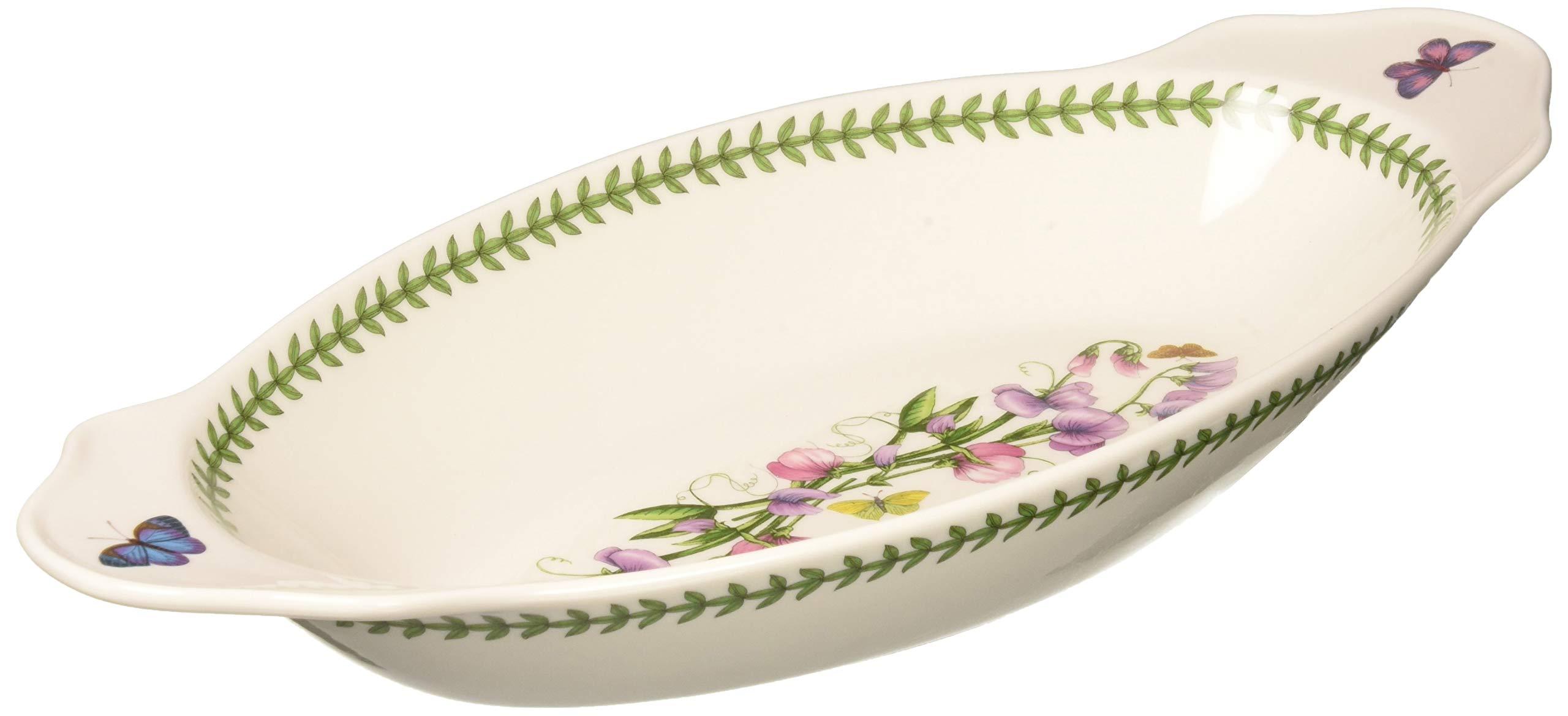Portmeirion 612723 Botanic Garden Oval Baking Dish with Handles, White