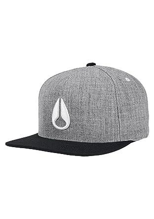 c640c9852 Amazon.com: NIXON Simon Snapback Hat Heather Grey Black White: Clothing