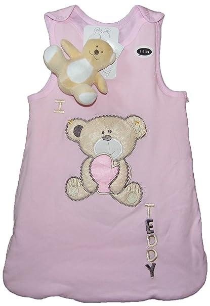 Bebe Bonito - Saco de dormir para bebé con osito de peluche (2,5