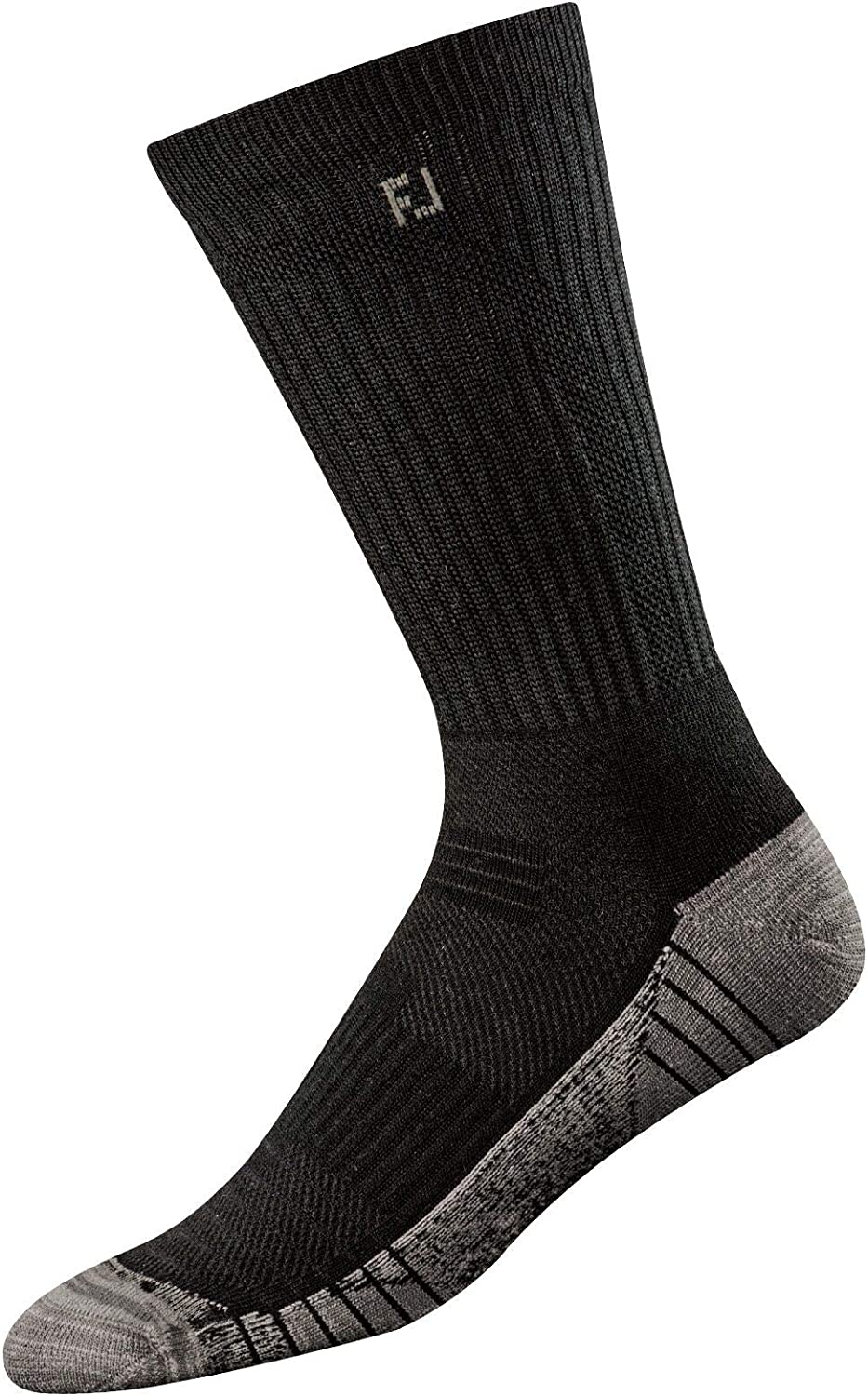 FootJoy Men's TechSof Tour Crew Socks Black Size 7-12