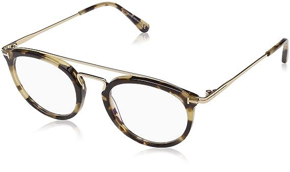 0d8fe3063032 Amazon.com  Tom Ford FT 5516-B Blue Block Blonde Havana 48 21 145 Unisex  Eyewear Frame  Watches