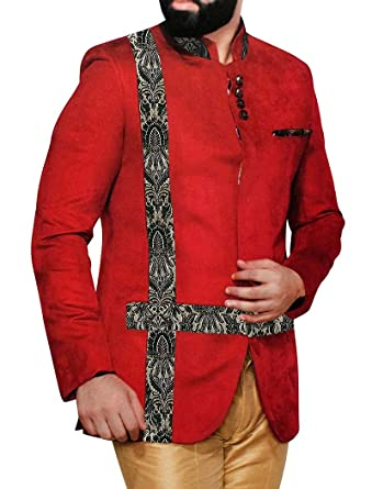 Amazon.com: INMONARCH traje de hombre rojo carmesí 3 pc ...