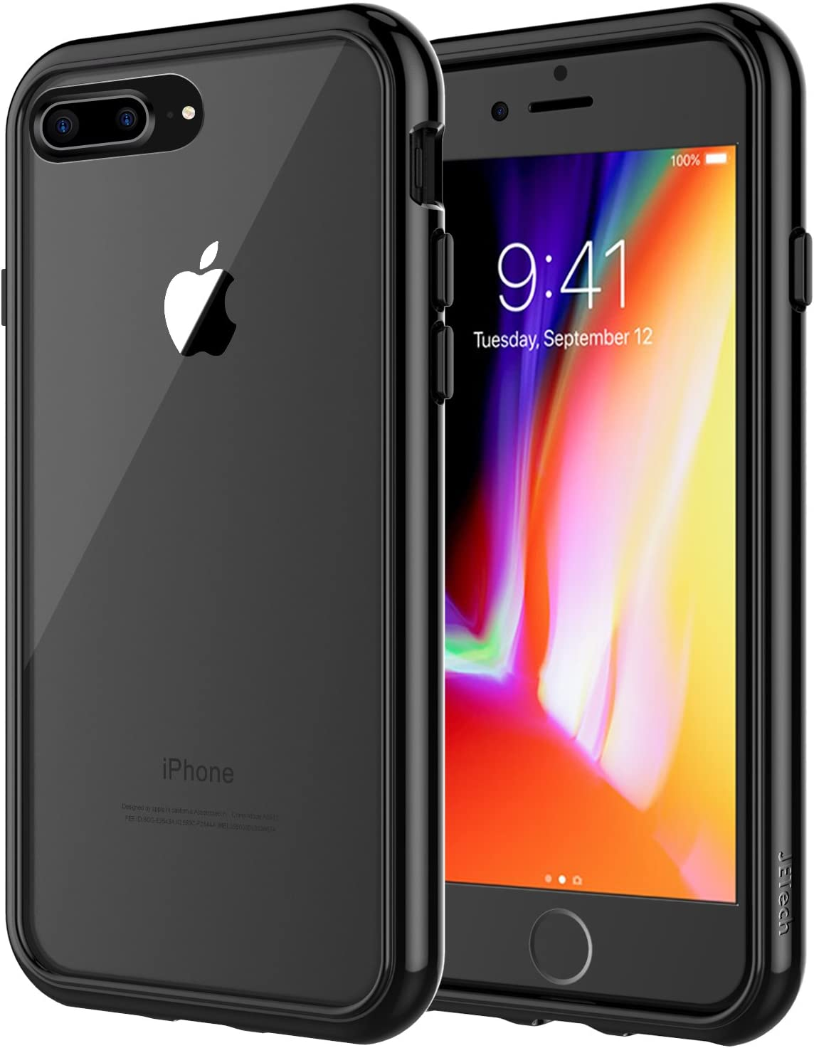 JETech 3431 Case for Apple iPhone 8 Plus and iPhone 7 Plus, Shock-Absorption Bumper Cover, Black