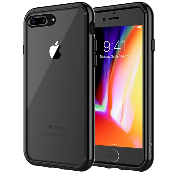 hot sale online 72a7d 895d2 JETech Case for Apple iPhone 8 Plus and iPhone 7 Plus 5.5-Inch,  Shock-Absorption Bumper Cover, Anti-Scratch Clear Back, Black