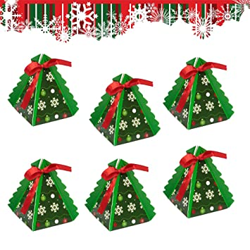 Small//Large Christmas Tree Shaped Gift Candy Box Favor Bag Xmas Party Decor DIY