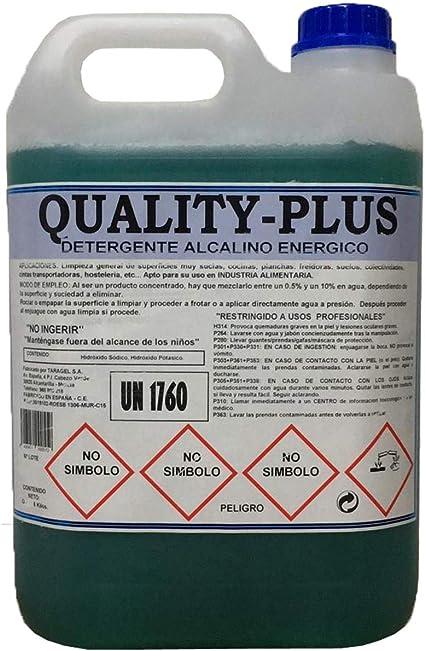 """CE Quality-Plus DESENGRASANTE HIGIENIZANTE SÚPER-Concentrado Energético.""""Especial para COCINAS Y Suelos Muy sucios - Motores """" Aroma MENTOLADO (5Kgrs): Amazon.es: Hogar"""