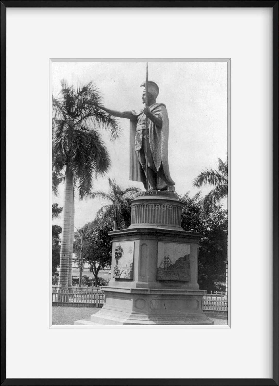 Kamehameha I,The Great,Photo of Statue,1900-1923,King of Hawaiian Islands INFINITE PHOTOGRAPHS Photo