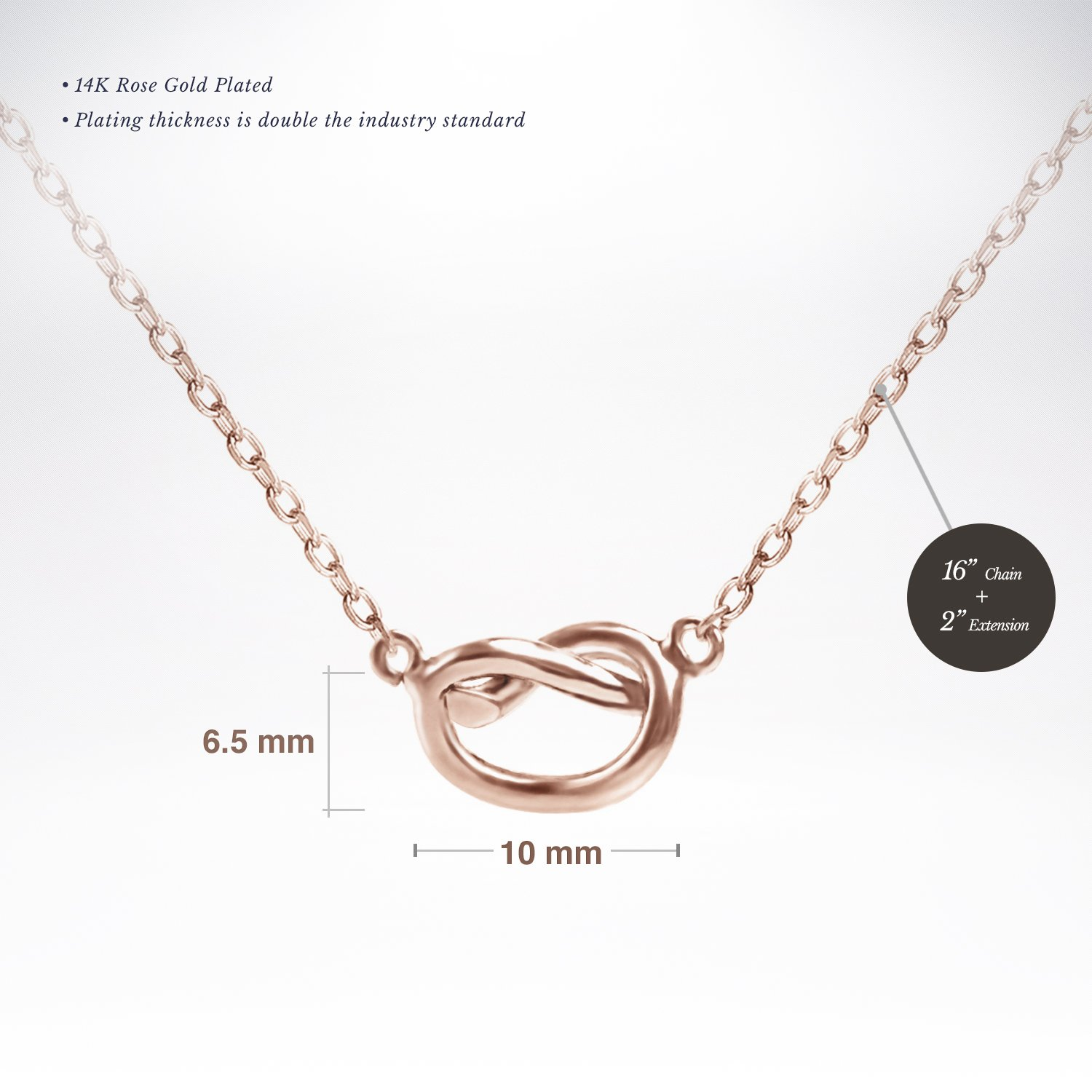 a6620b1e53029 PAVOI 14K Gold Plated Infinity Necklace | Bridesmaids Gifts | Gold  Necklaces for Women