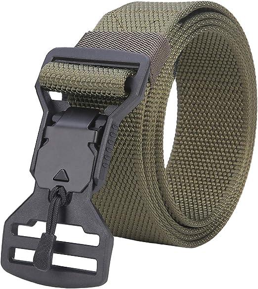 Tactical Sport Belt Adjustable Webbing Men Women Belts Magnetic Buckle Camping