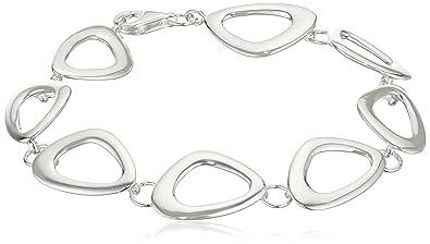 Elements Silver B3453 Ladies' Open Oval Link Sterling Silver Bracelet of Length 18 cm + 3 cm Extender XNlYYFZ