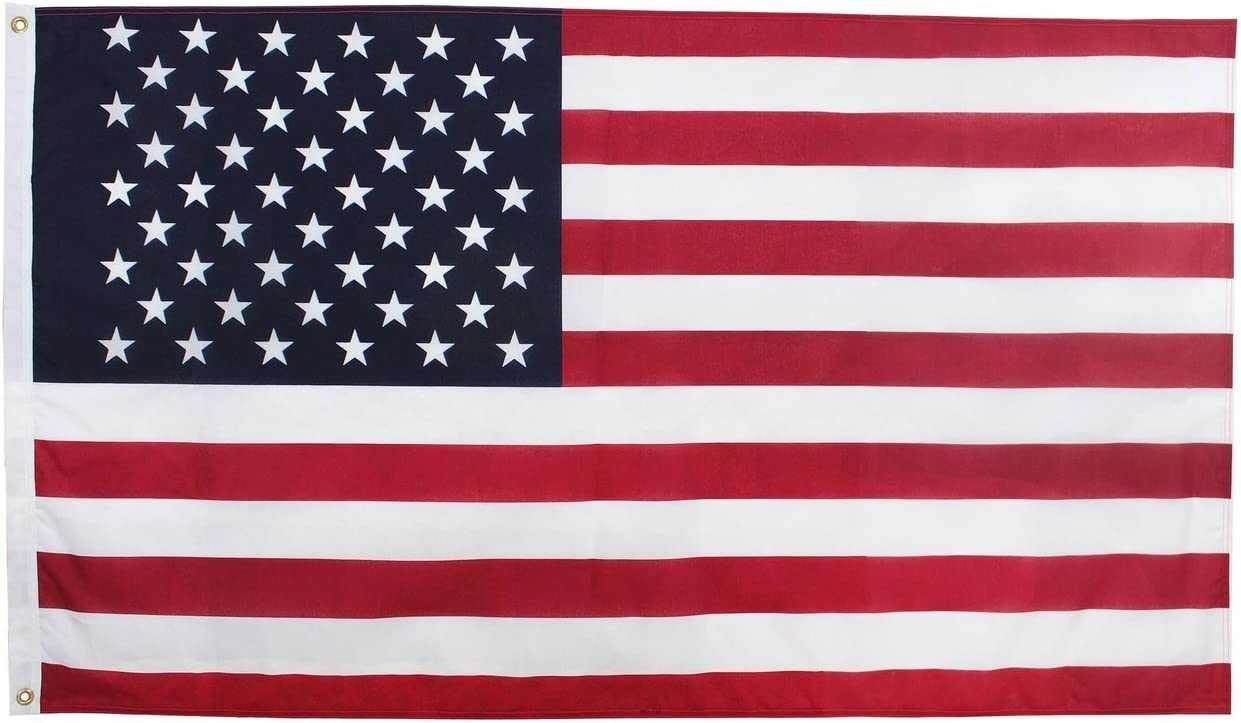 """2.5x4 FT 30/""""x48/"""" VALLEY FORGE NYLON  US AMERICAN FLAG /""""FULLY SEWN/"""" MADE IN USA"""