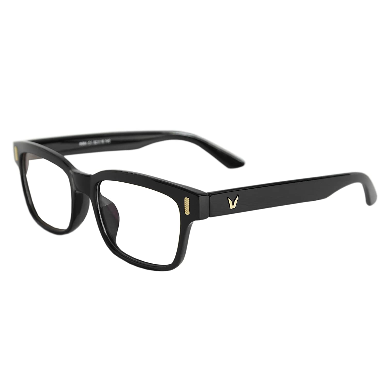 コンピュータ、メガネ、ブルーライトブロックリーディンググラスUV LCD LED画面保護安全Eyewear、アンチ片頭痛と目疲労 – Gamer Glasses B07D9VKSHV Black, Clear Lens Black, Clear Lens