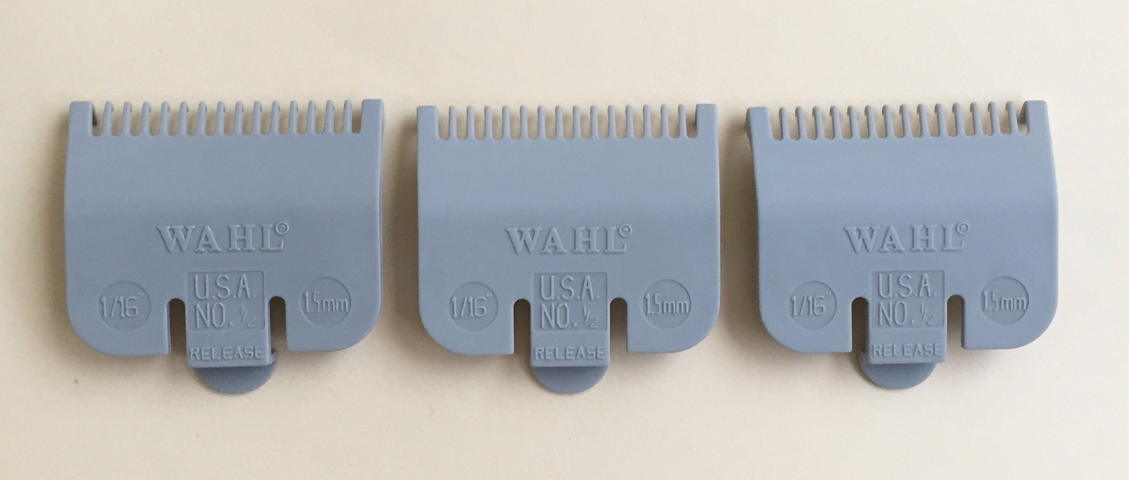 Wahl Three Pack 1/2 Attachment Cutting Guide by Wahl