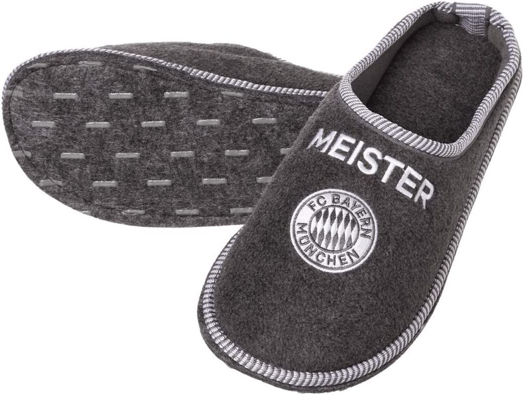 FC Bayern M/ünchen Rekordmeister Felt Slippers