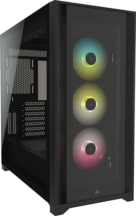 Icue 5000x Rgb Tempered Glass Mid Tower Pc Case Black Computers Accessories