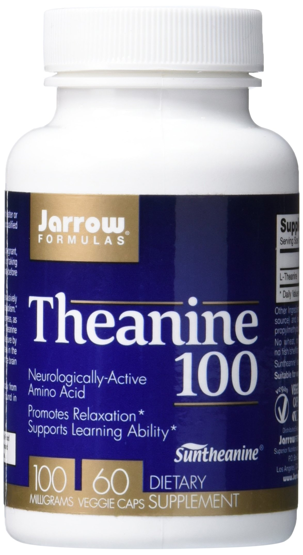 Jarrow Formulas Theanine , Promotes Relaxation, 100 mg, 60 Caps