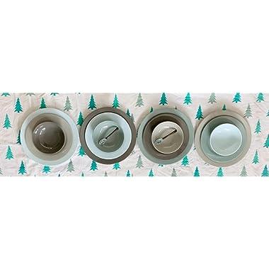 Bowla 12-Piece Melamine Dinnerware Set - Service for 4 (Winter)