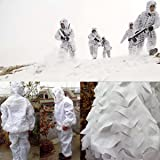 UNIQUEBELLA 3D Military Hunting Snow White Bird Watching Ghillie Sniper Suit Camouflage Set Clothes
