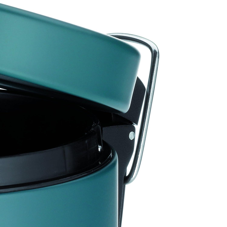 Kela 20528 Poubelle de Salle de Bain /à P/édale 3 Litres M/étal Mat Bleu P/étrole